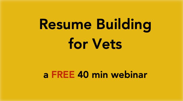 Resume Building  - a 40 min webinar