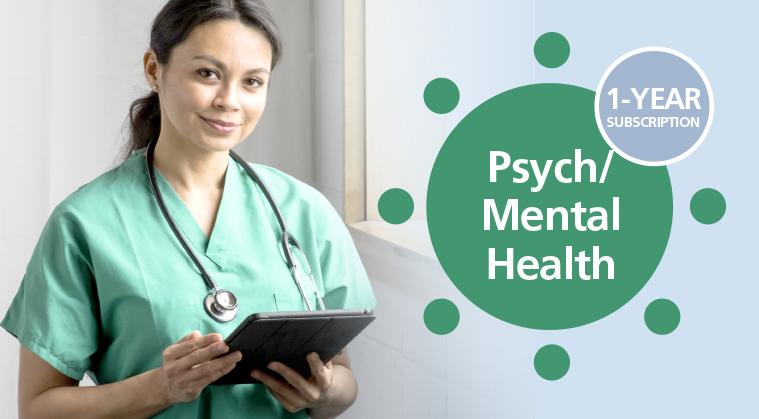 1-Year Subscription: Subspecialty CE Membership - Psych Mental Health Nursing