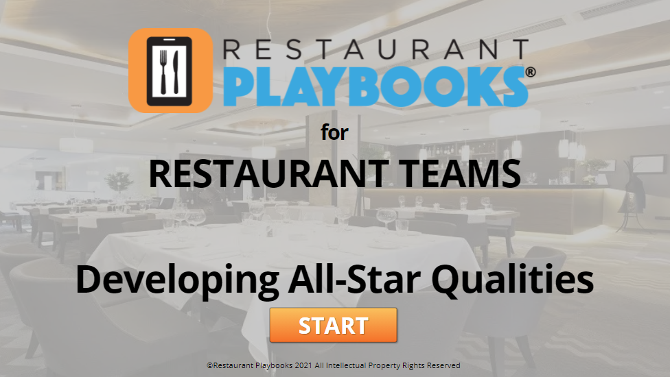 Hospitality All-Star Course and Game for FOH Teams