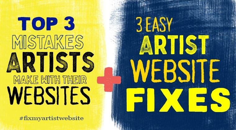 3 Artist Website Fixes