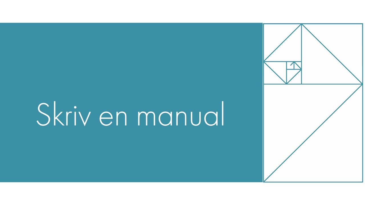 Skriv en manual