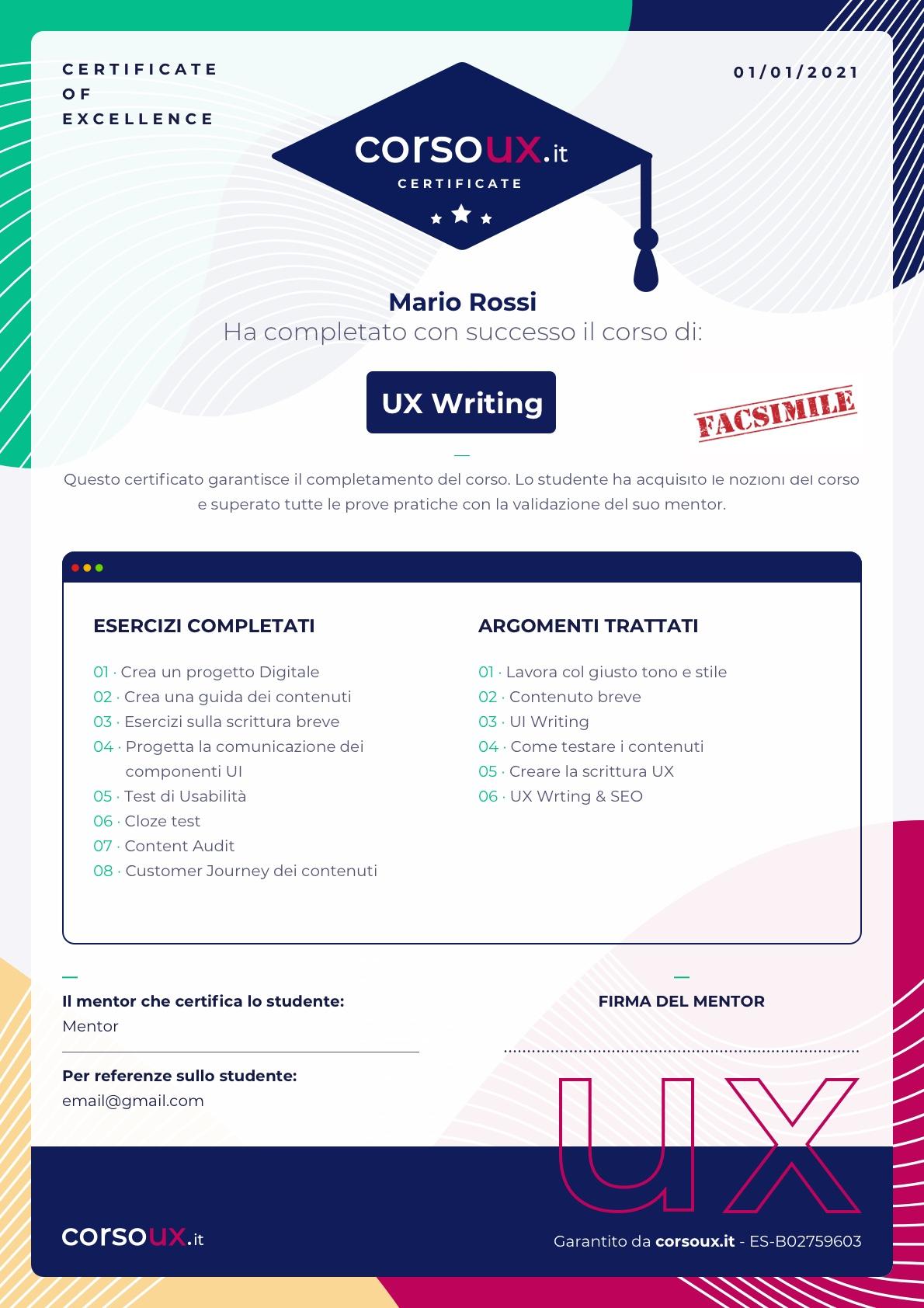 certificazione ux design