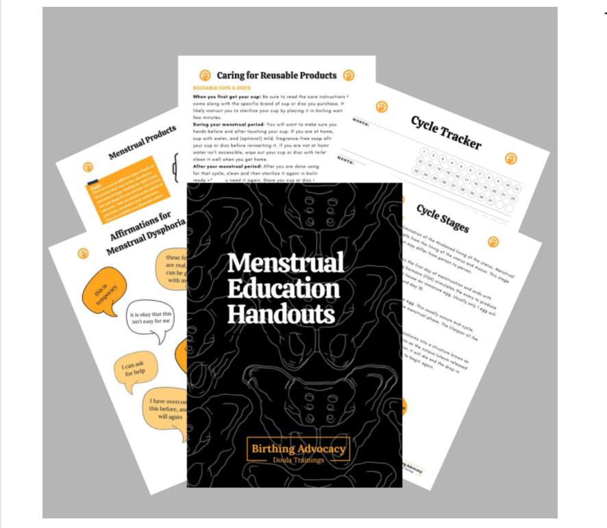 Menstrual Education Handouts