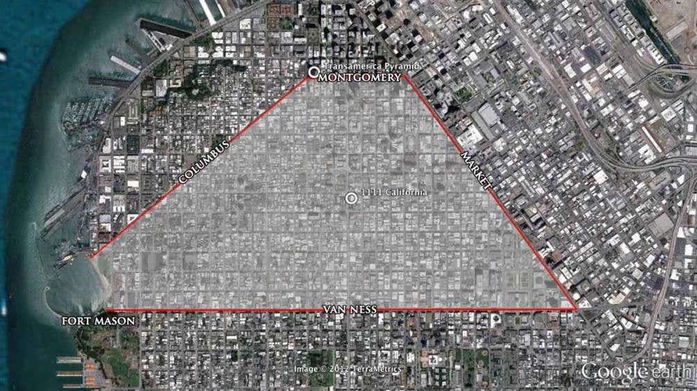 San Francisco street pyramid