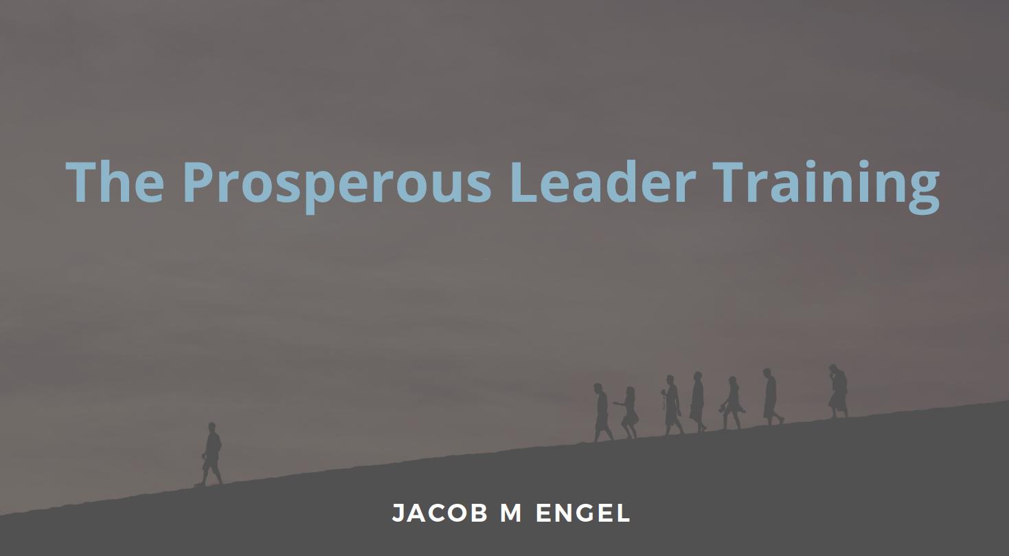 The Prosperous Leadership Training