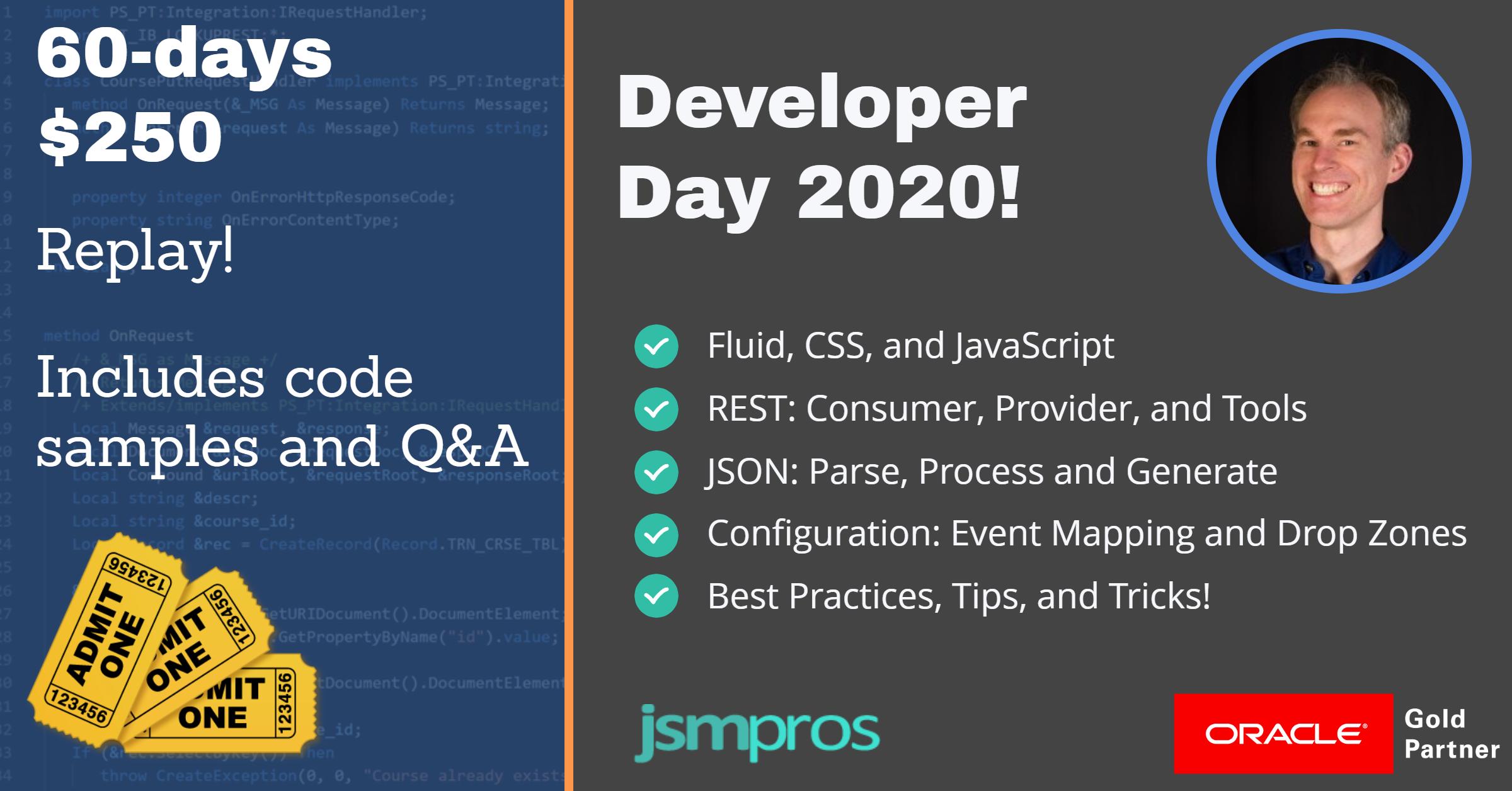 Developer Day 2020 60-day Replay