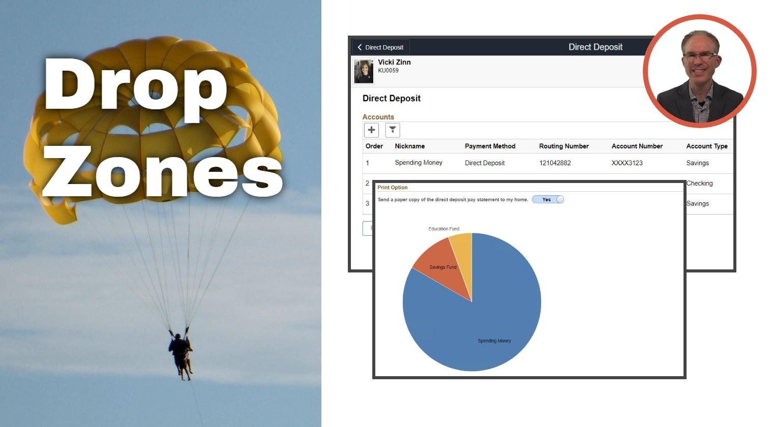 PeopleSoft Drop Zones (8.57+)