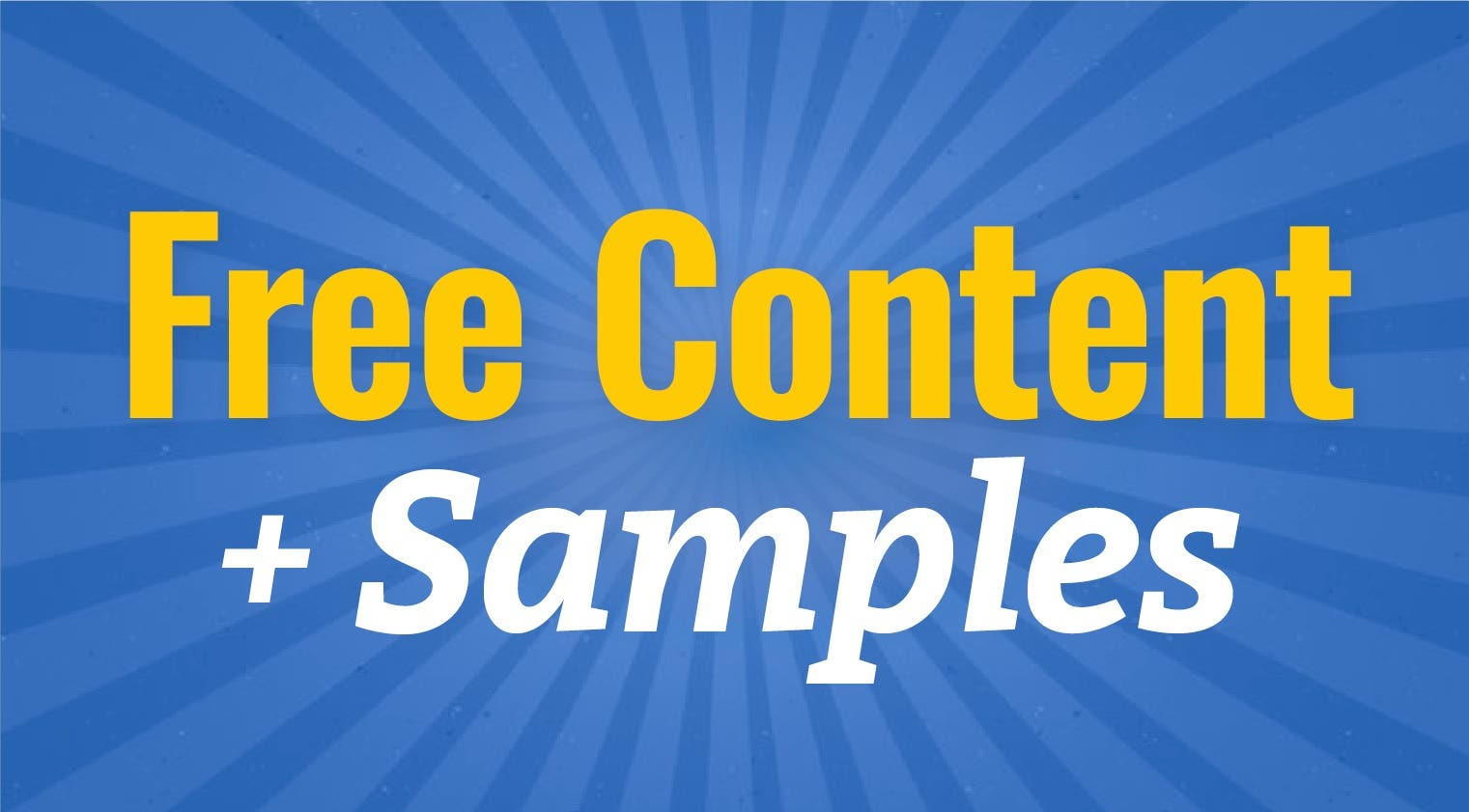 Free Content & Samples