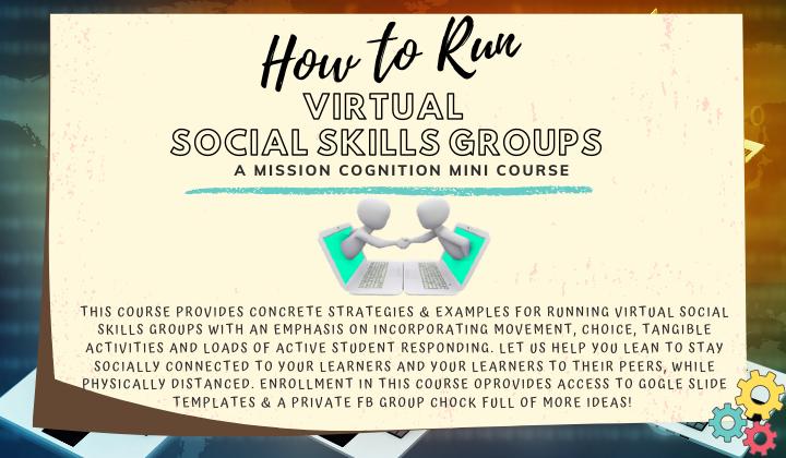 How to Run Virtual Social Skills Groups