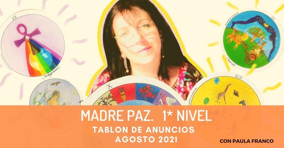 LUNES--Tablón de Anuncios--AGOSTO2021-- Tarot Madrepaz