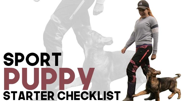 Sport Puppy: Starter Checklist
