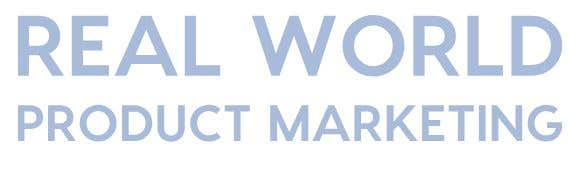 Real World Product Marketing