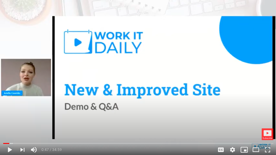 VIDEO: How To Use Work It Daily
