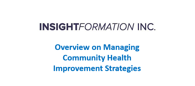 Overview on Managing Community Health Improvement Strategies