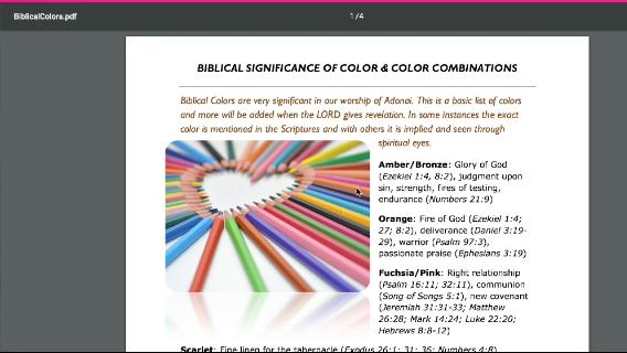 Color Palettes Based on Biblical Color Symbolism