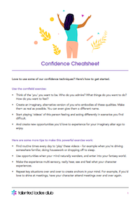 GET OUR CONFIDENCE CHEATSHEET
