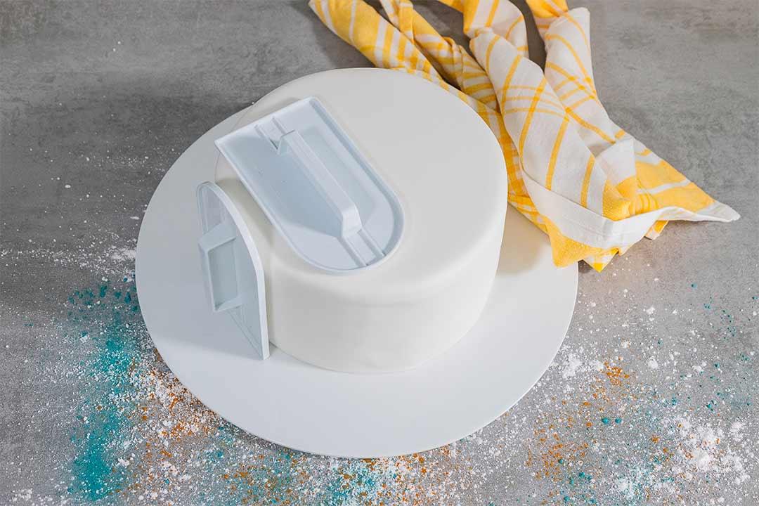 La copertura in pasta di zucchero di una dummy