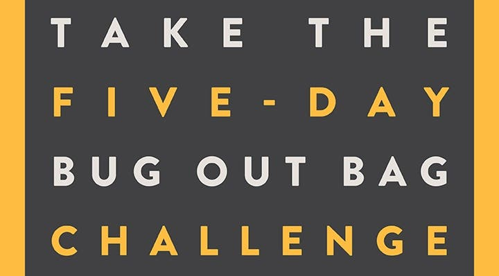 5-Day Bug Out Bag Challege