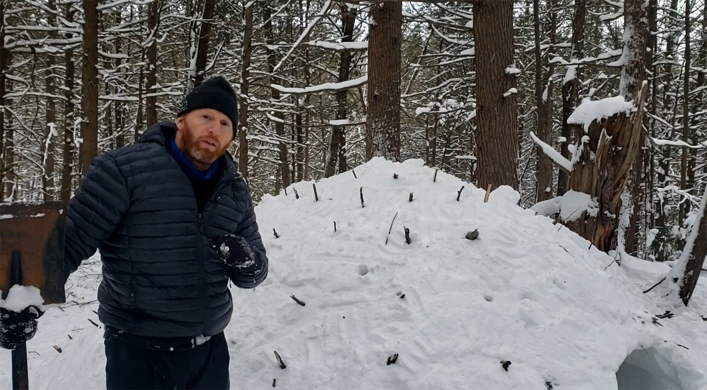 How to Build a Quinzee Snow Survival Shelter