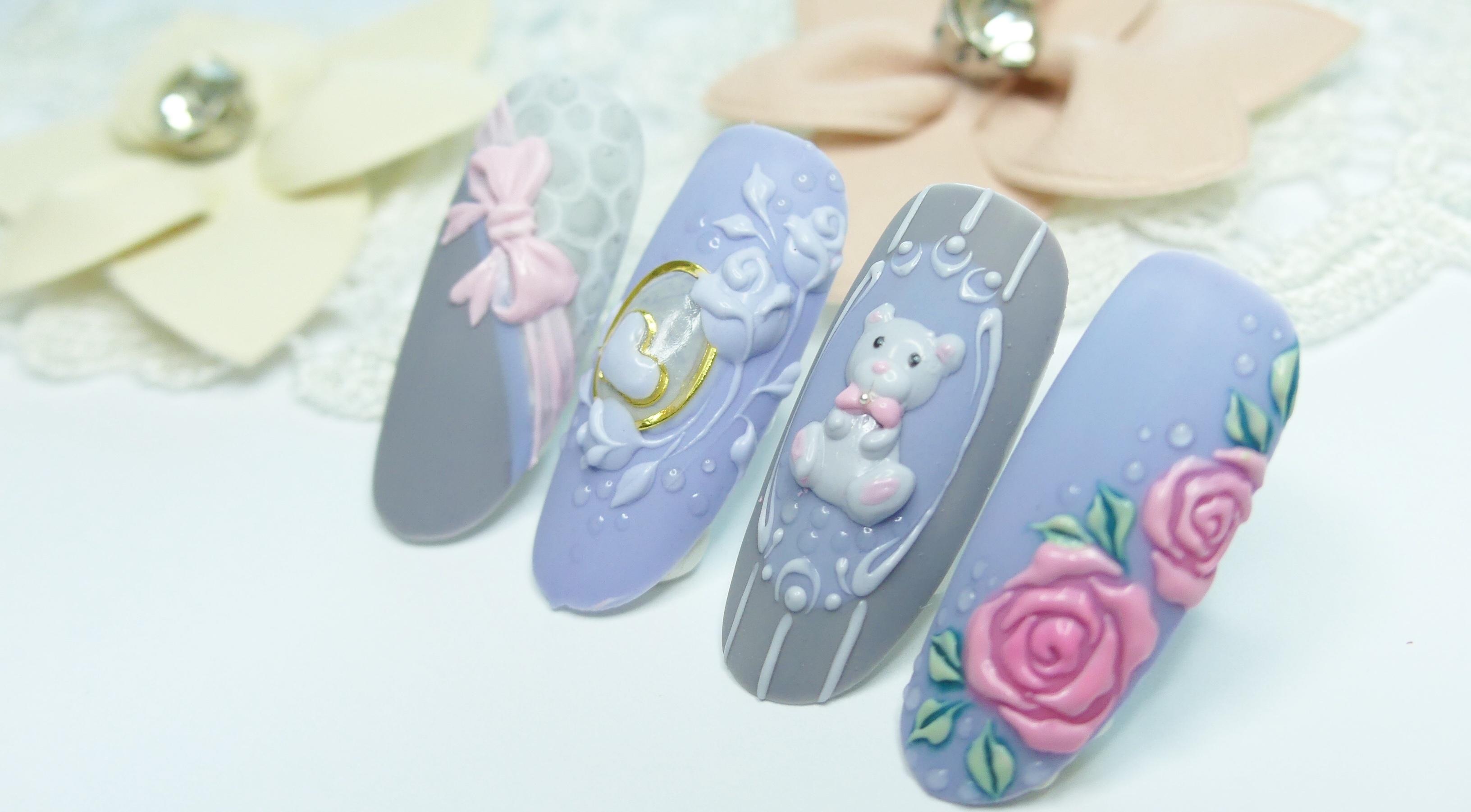 3D Cuties - Gel Nail Art