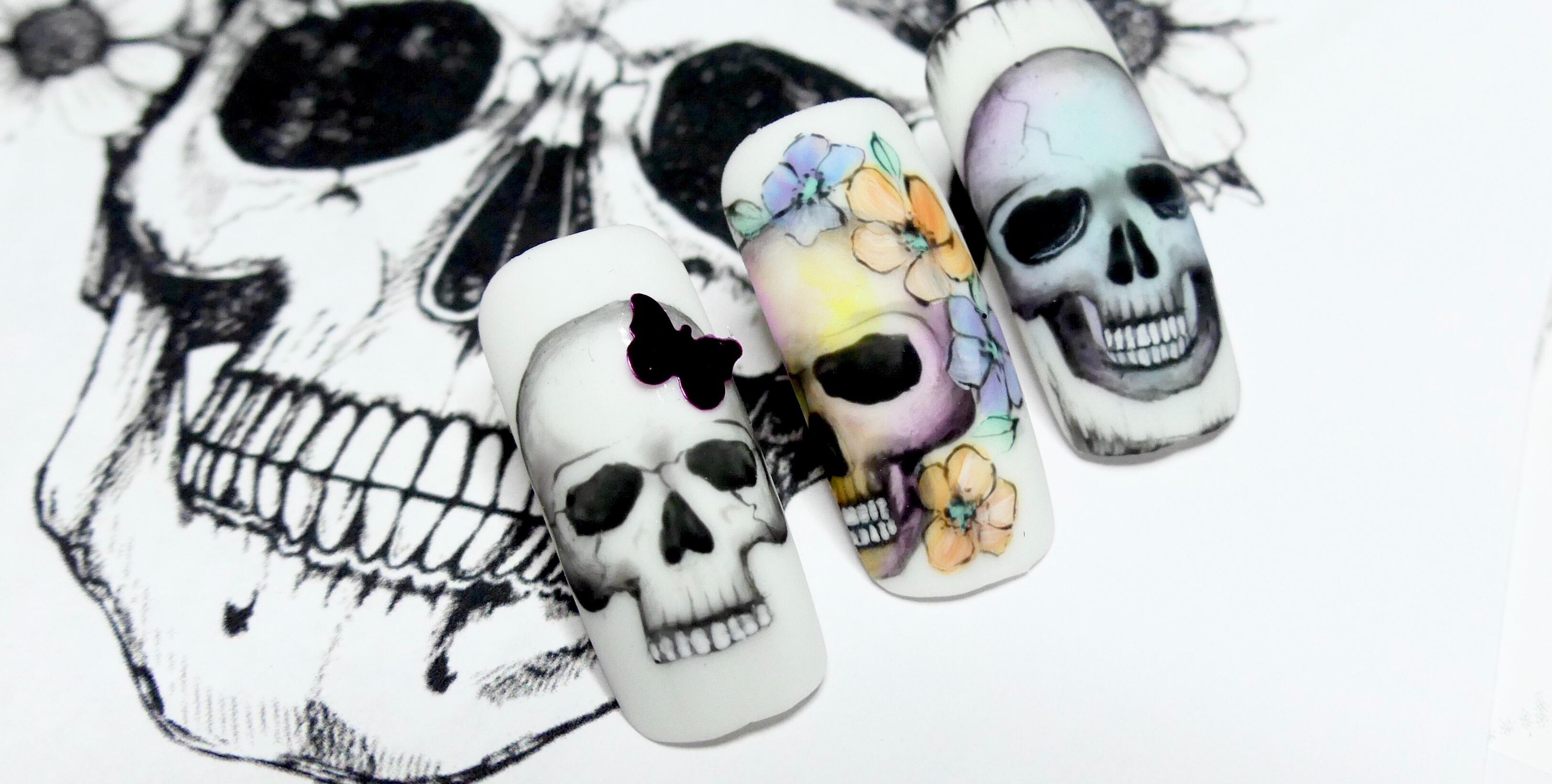 Skulls - Gel Painting