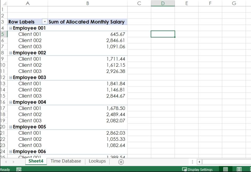 Excel, Accelerated: Allocate salaries