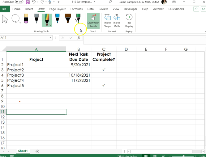 Excel, Accelerated: Clear a cell when a related column is marked complete