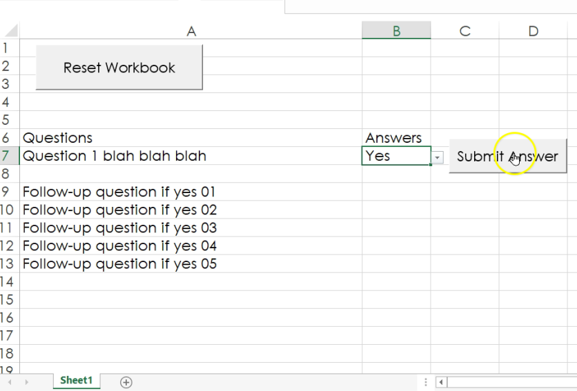 Excel, Accelerated: Create a checklist with conditional logic