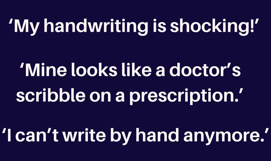 The things people say to me about their writing
