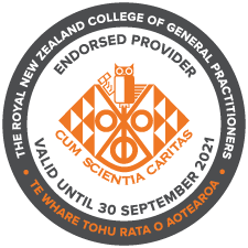 Endorsed provider of continuing education for the Royal New Zealand College of General Practitioners.