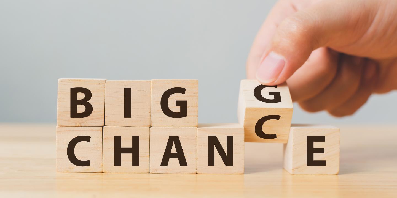 Blocks reading 'Big Change' or 'Big Chance'