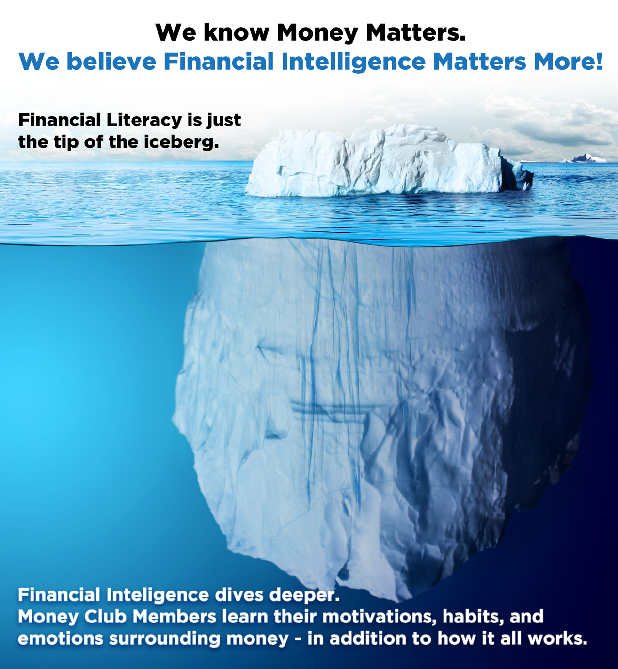Financial Literacy is just the tip of the iceberg. Financial Intelligence goes deeper!