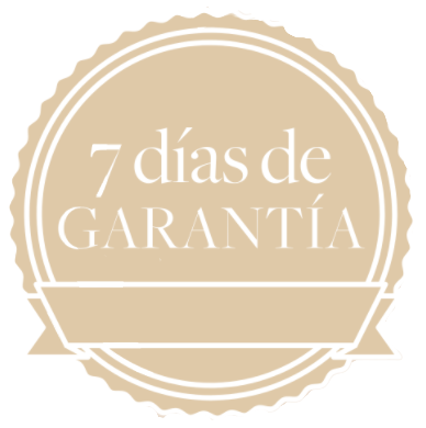 100 % GARANTÍA DE SATISFACCIÓN