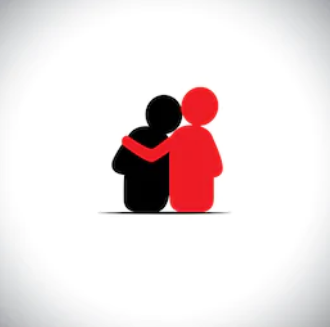 Empathy, person holding another person