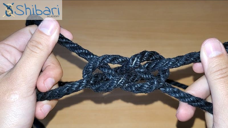 Inline Double Coin Knot Shibari