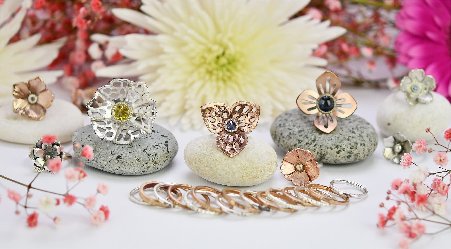 3. Delicate Flower Ring