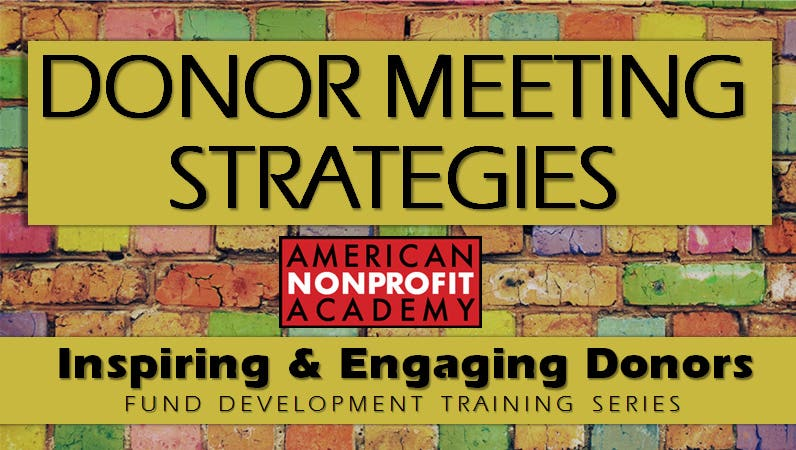 Donor Meeting Strategies