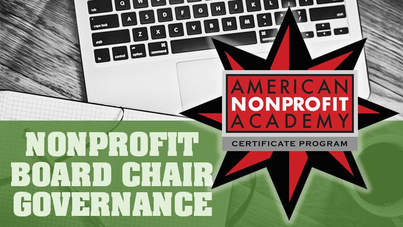 NPO Board Chair Governance Certificate Program