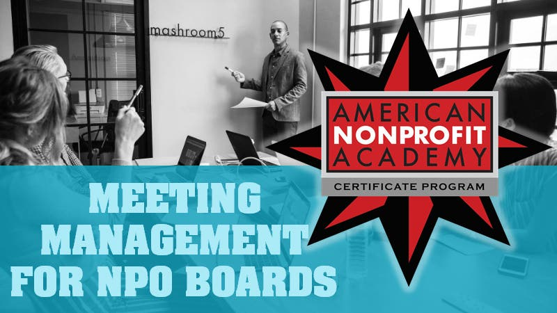 Meeting Management For Nonprofit Boards   Certificate Program