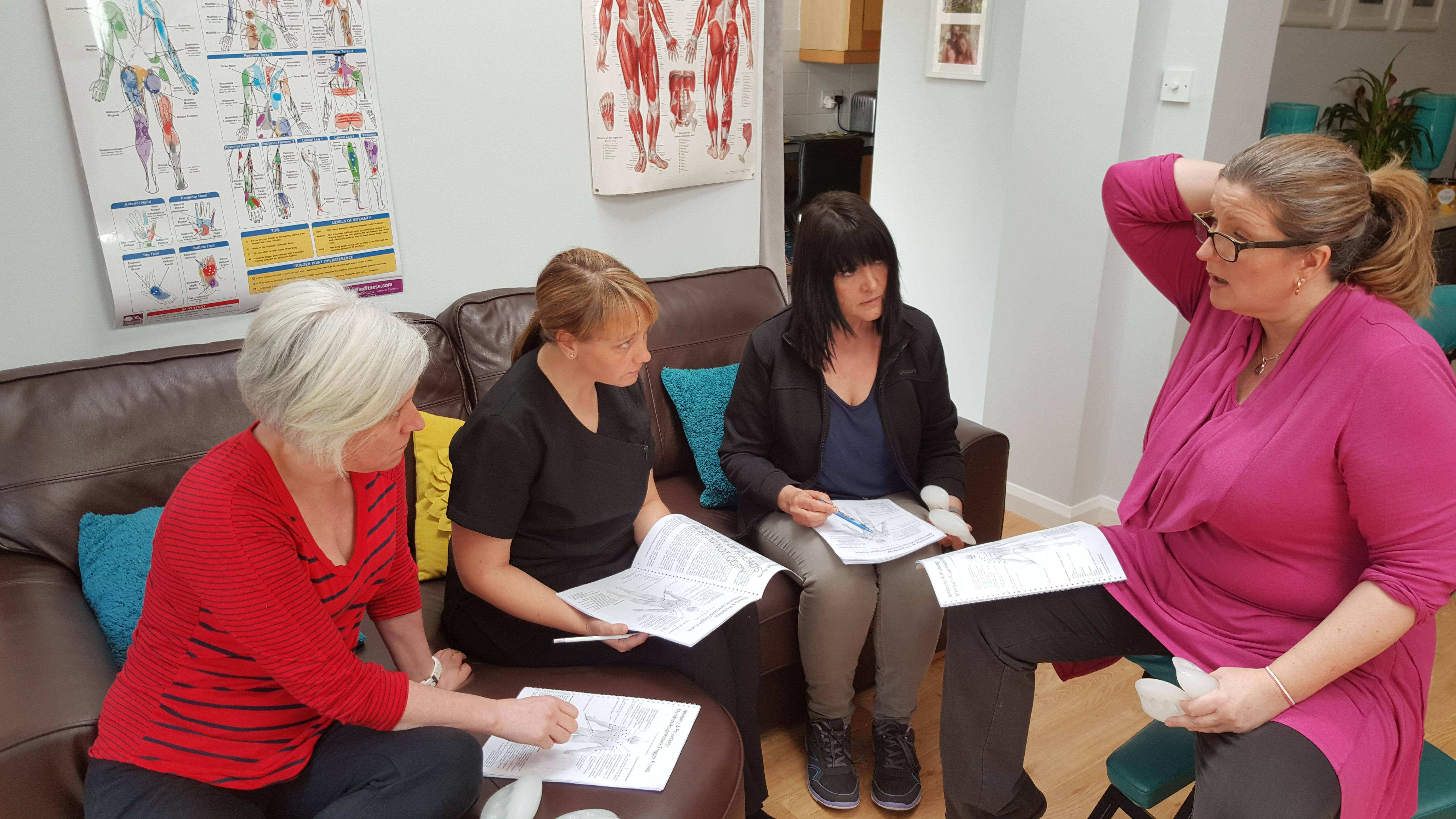 The Kneader designer Una Tucker in a training session
