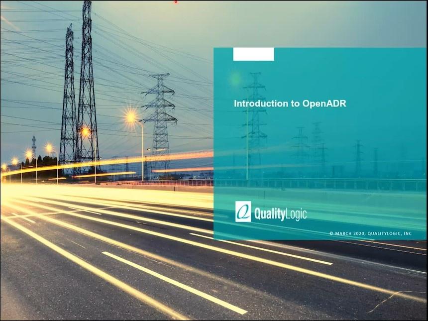 Webinar: Introduction to OpenADR
