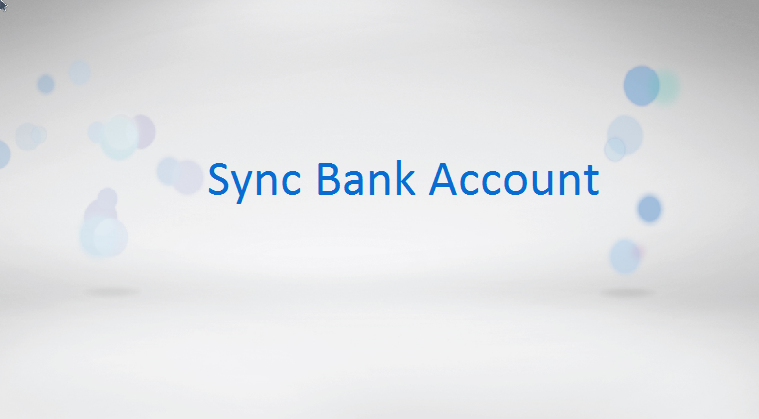 QuickBooks Online - Sync Bank Account