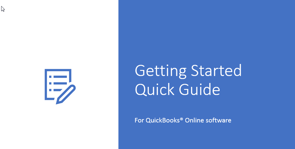 QuickBooks Online - Getting Started Quick Guide