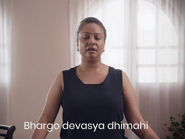 Yoga Teacher teaching online sanskrit mantras course