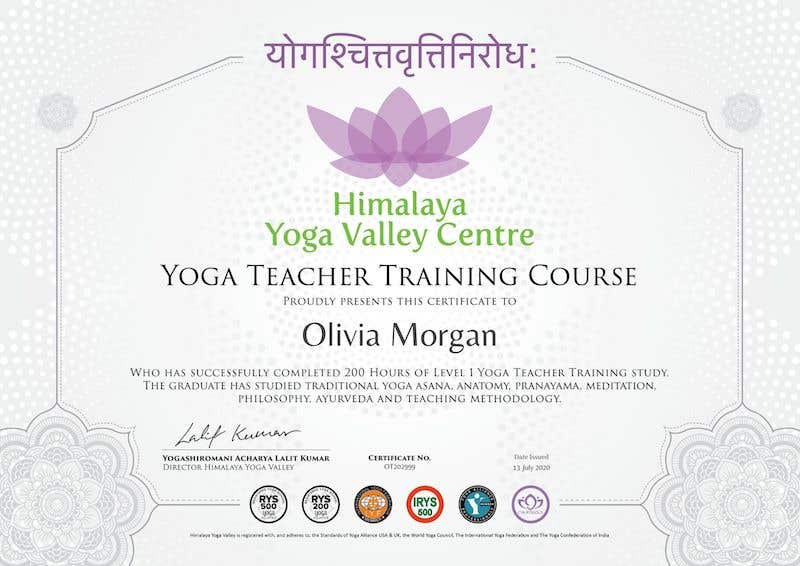 Himalaya Yoga Valley Students with certificates