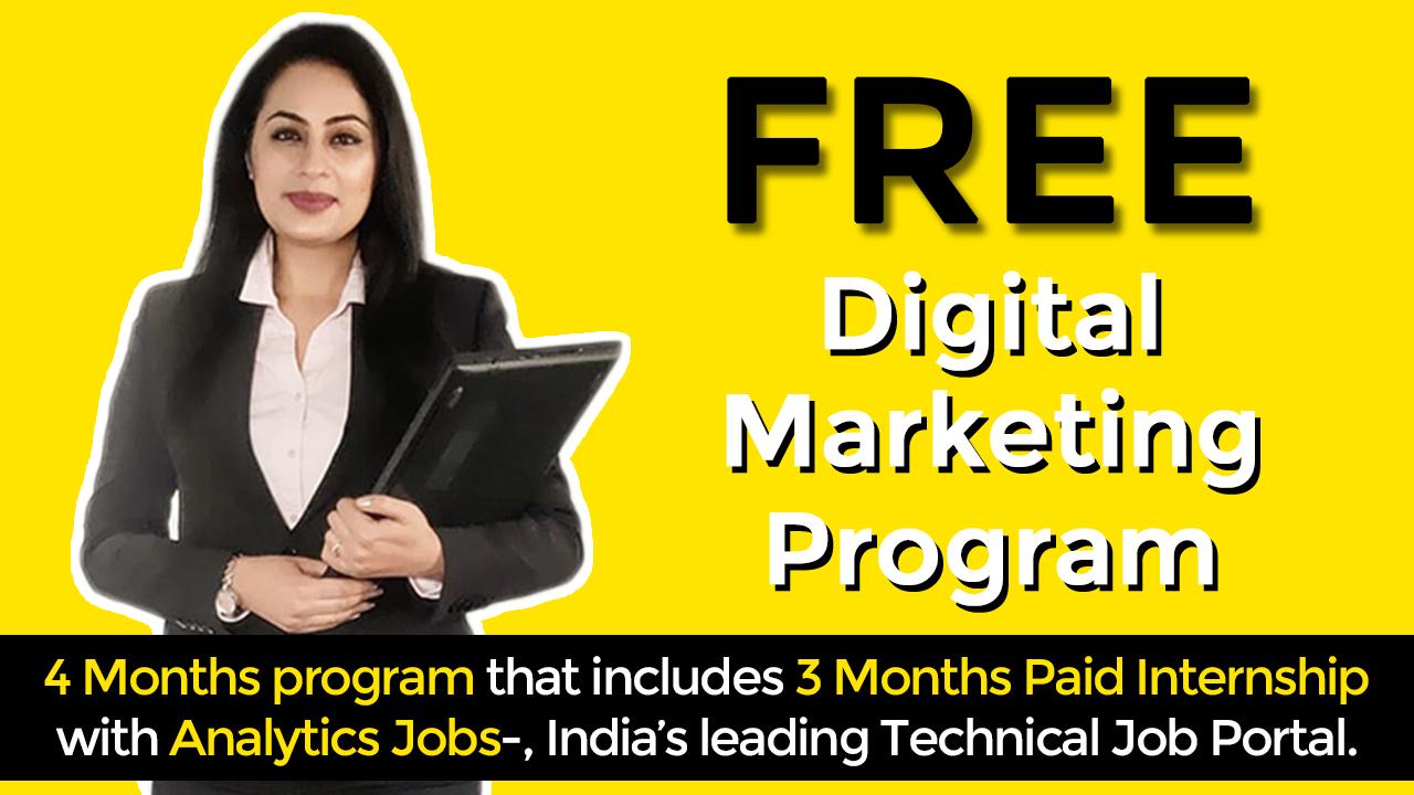 Strategic Digital Marketing Program with Paid Internship from Analytics Jobs