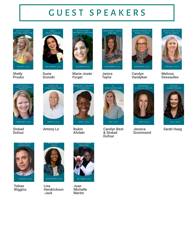 Pelvic Health Professionals - Guest Speaker Images