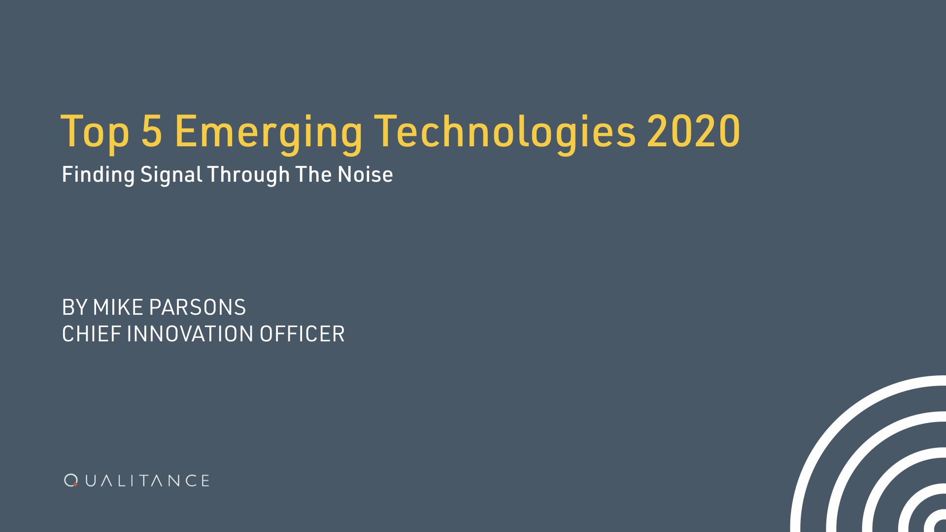 5 Emerging Tech 2020