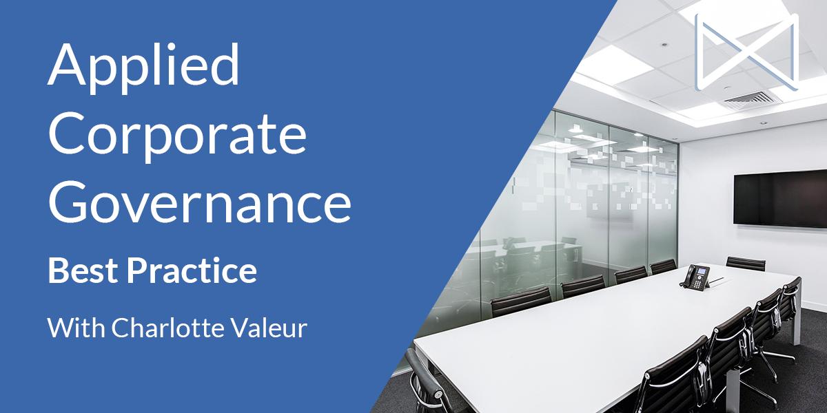Applied Corporate Governance Best  Practice