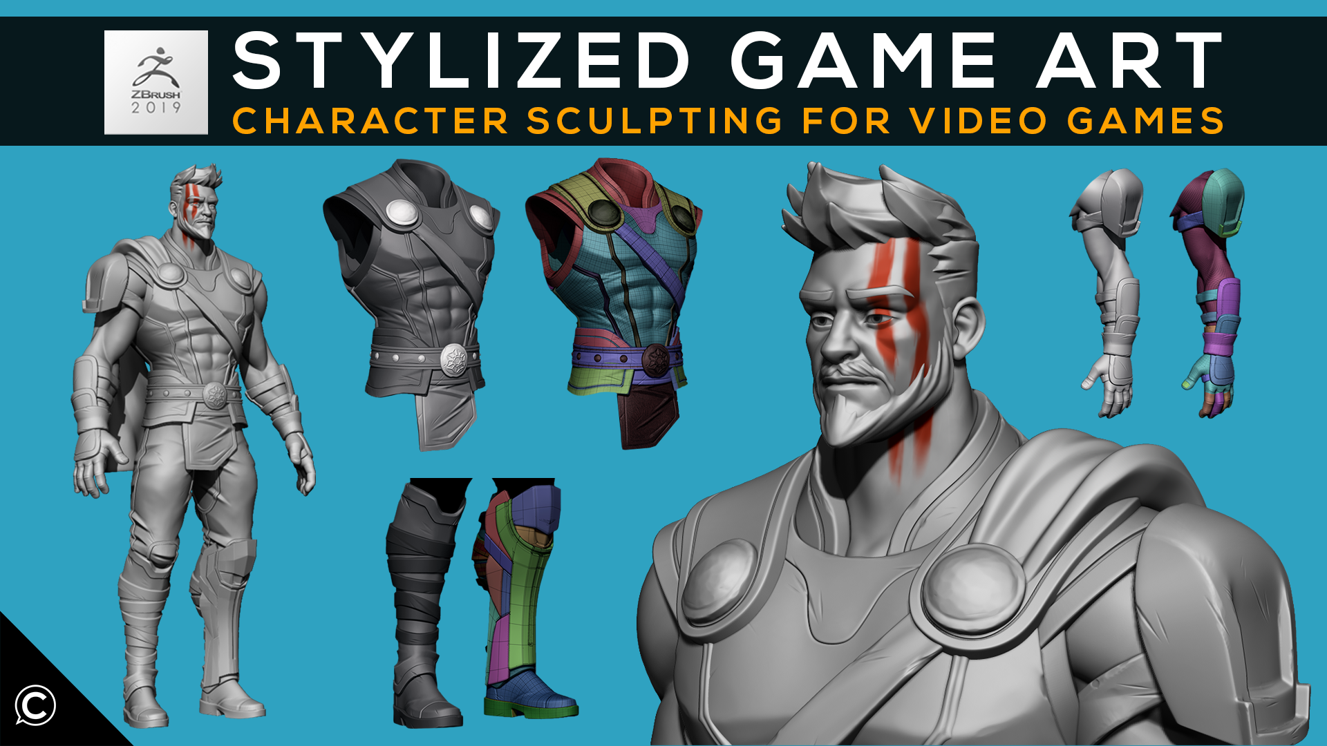 Stylized Game Art: Character Sculpting for Video Games